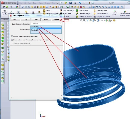 SOLIDWORKS Simple Tutorials: Mass Properties In Solidworks