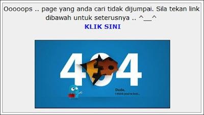 Custom Page Error 404