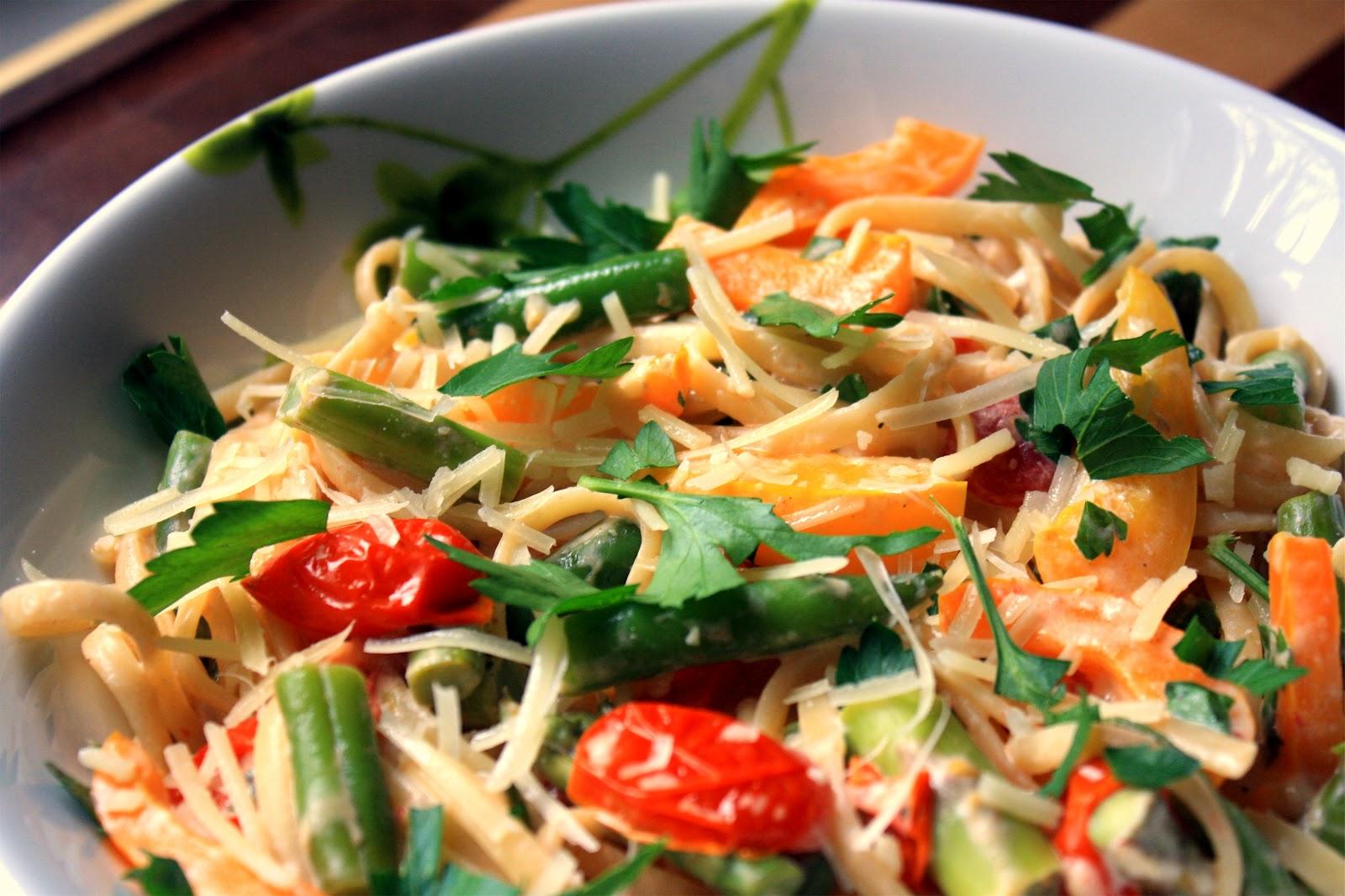 Healthier Pasta Primavera | K. Fox Cooks