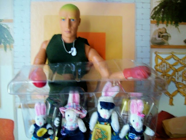 M & C Toys Power Team Action figure holding set of 4 Mattel Bunningtons