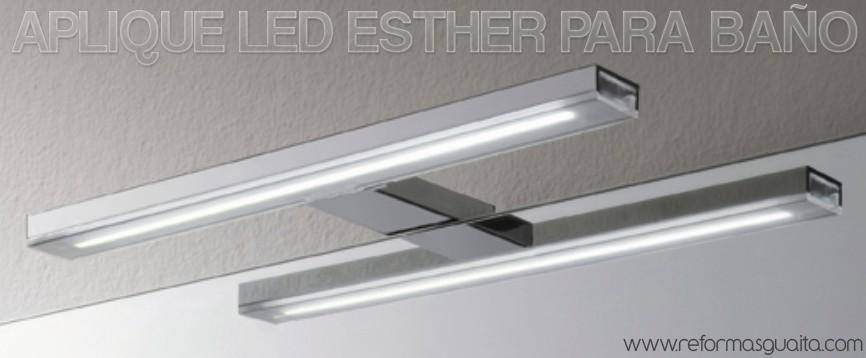 Lamparas Para Baños Minimalistas:ESTHER: Aplique LED minimalista para el baño ~ Reformas Guaita