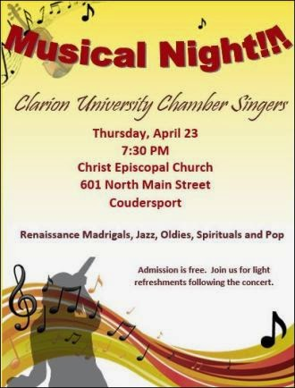 4-23 Music Night Clarion University