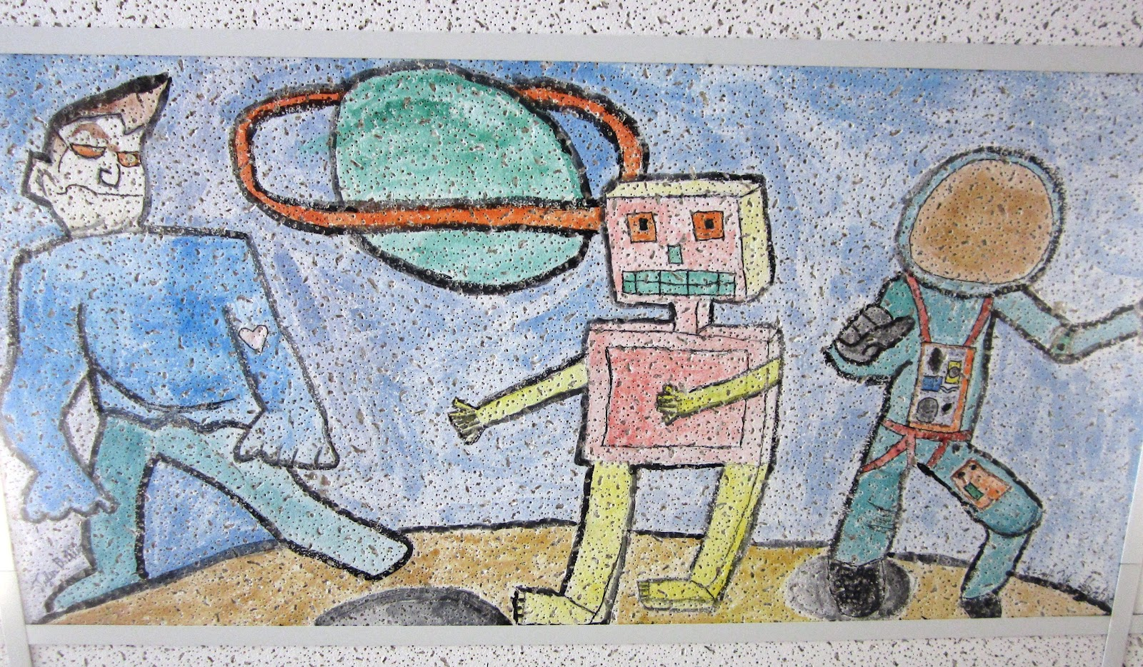 Ceiling tile art customize your classroom i want to be a our custodians are so kind to remove and replace tiles all year long im already thinking about what kind of tile i want to get for next year dailygadgetfo Choice Image