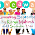 Giveaway September by Karya Mahirah