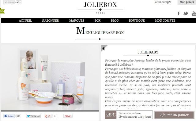 JolieBox  lance la JolieBabyBox pour les bébés et les mamans