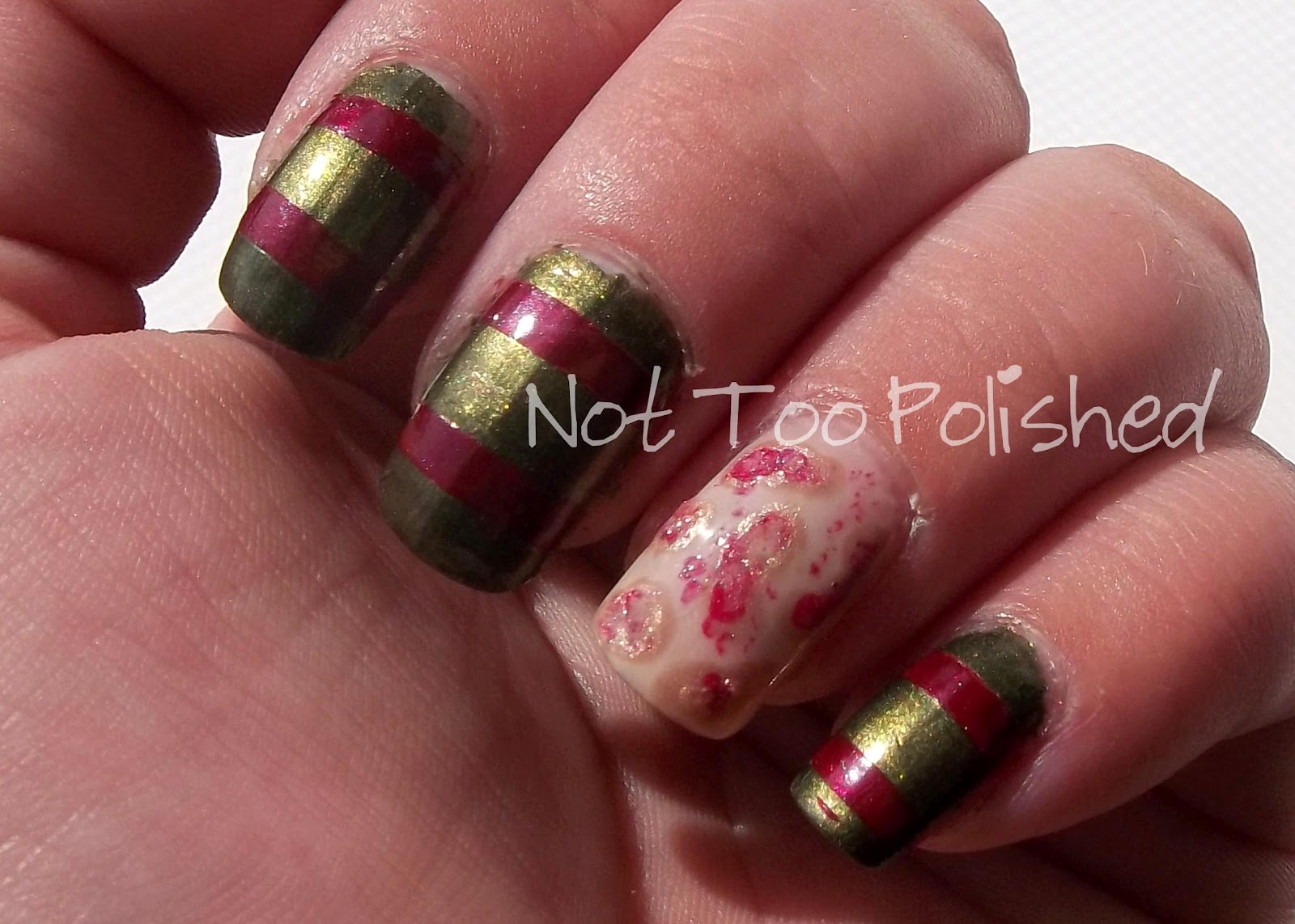 Not Too Polished: This Is Halloween Nail Art Challenge: Horror Movies!