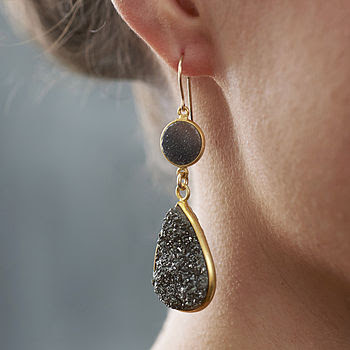 Druzy Earrings - Not On The High Street