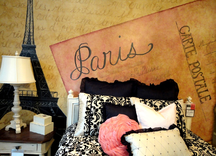 artistic murals paris themed room parisian bedrooms french bedroom decorating ideas