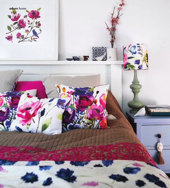 Decorating A Bedroom With A Flower Theme   6