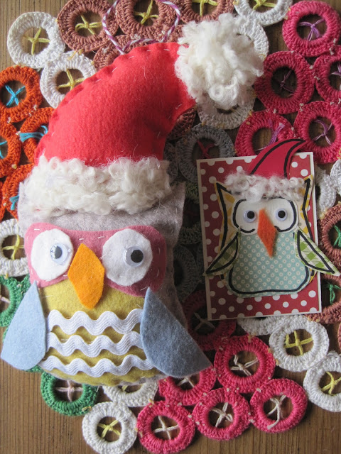 Santa Owl by Vintage Umbrella