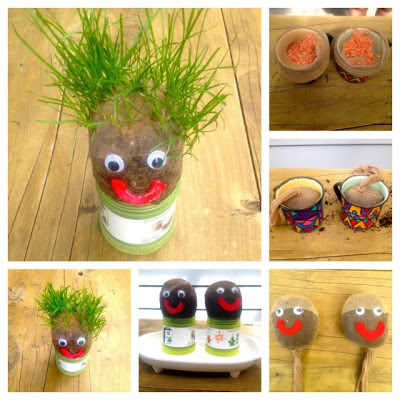 Growing a Grass Head!-Happy Little Kiwi