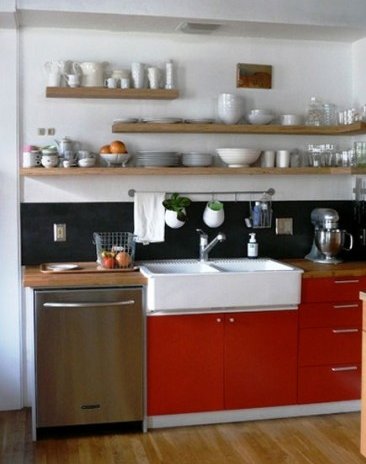 Design Love Diy How To Display Items On Open Shelves In Kitchen