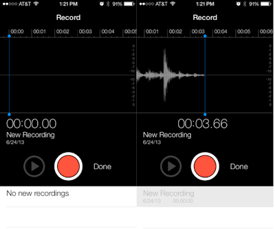 Recording Returned in iOS 7 beta 2
