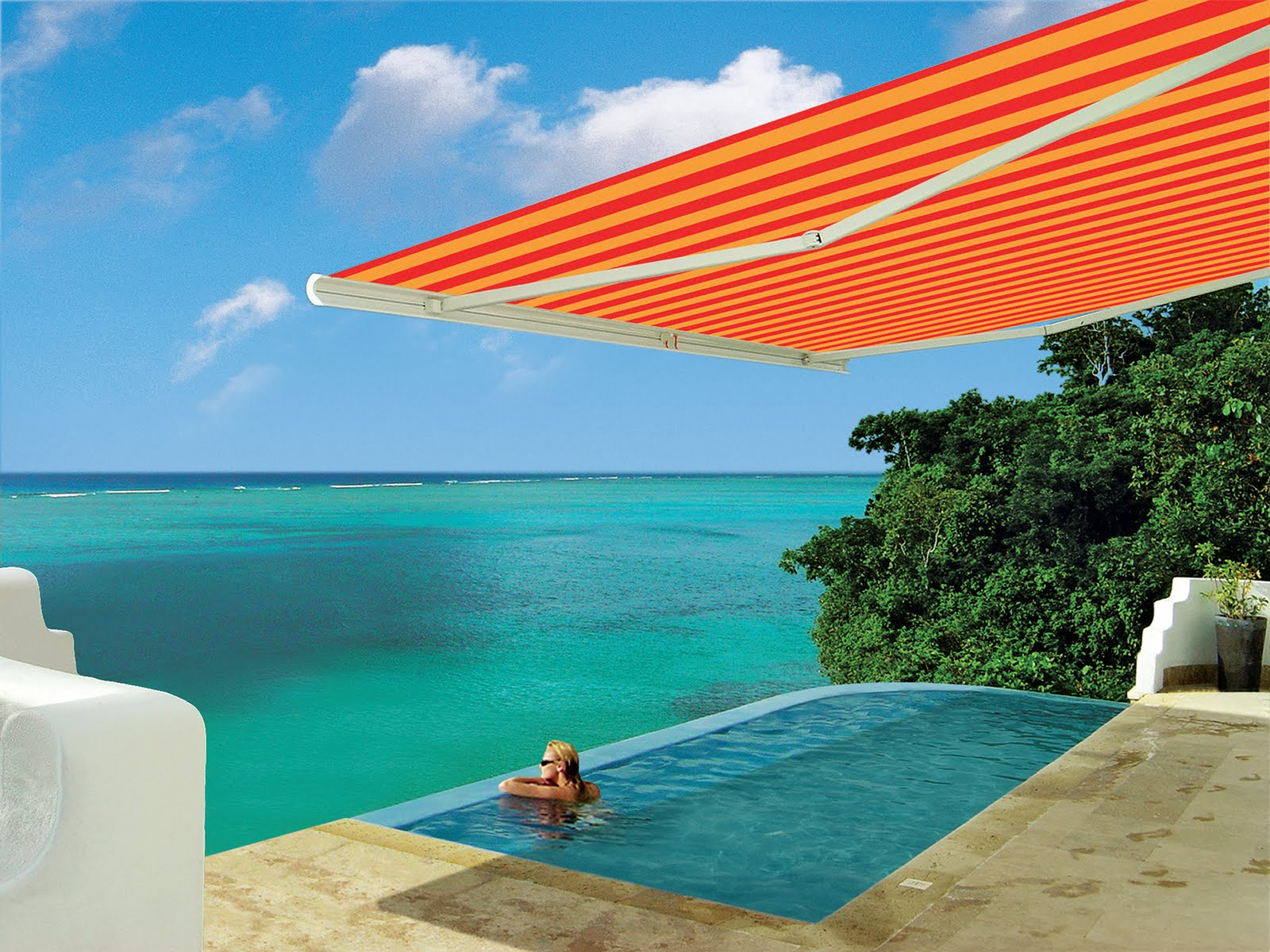 Retractable Awnings Are Versatile And Convenient For Any Outdoor Pool Or Hot  Tub. Enjoy The Sun And Outdoors No Matter What The Weather Conditions Are.