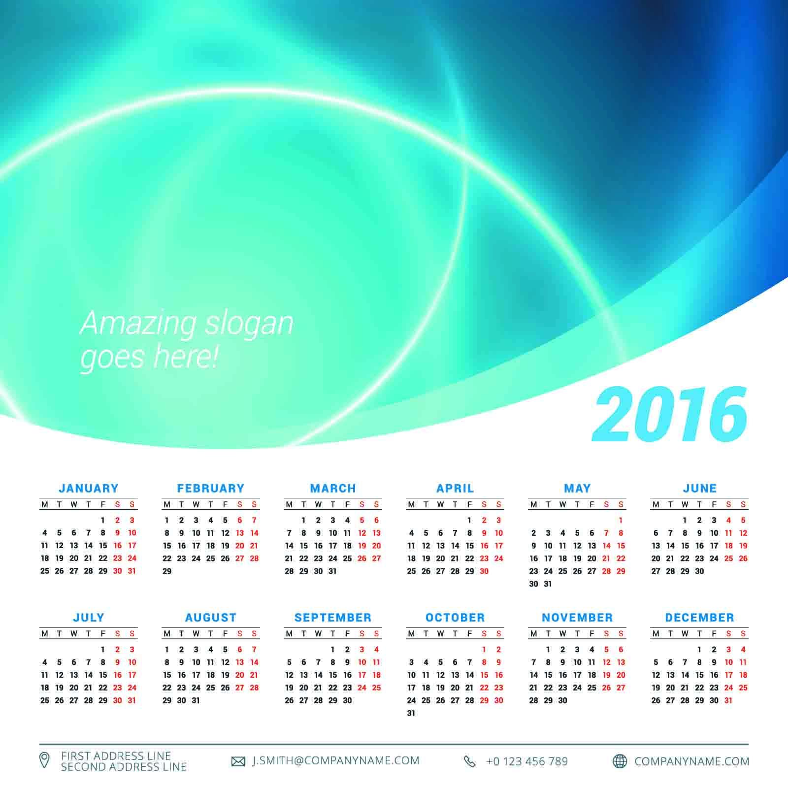 カレンダー カレンダー フリー 2015 : 2016カレンダー無料 ...