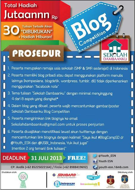 Poster Sekolah Dambaanku Blog Competition