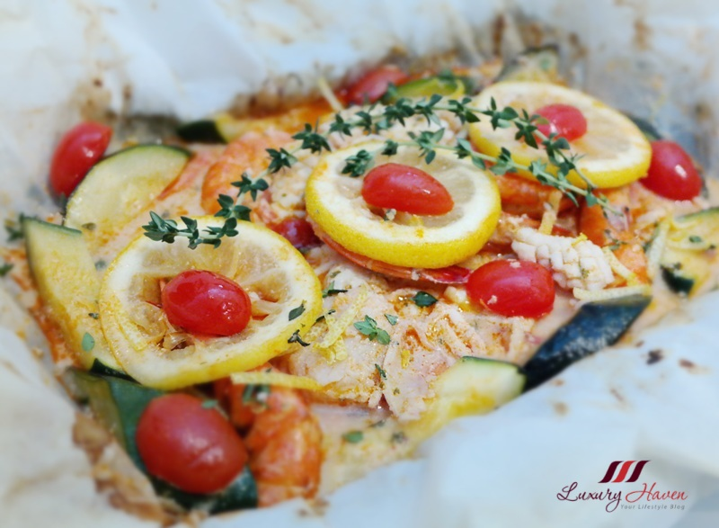 festive recipe purelyfresh seafood parcel with scented thyme
