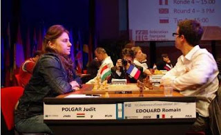 Echecs à Aix : ronde 4, Judit Polgar 1-0 Romain Edouard