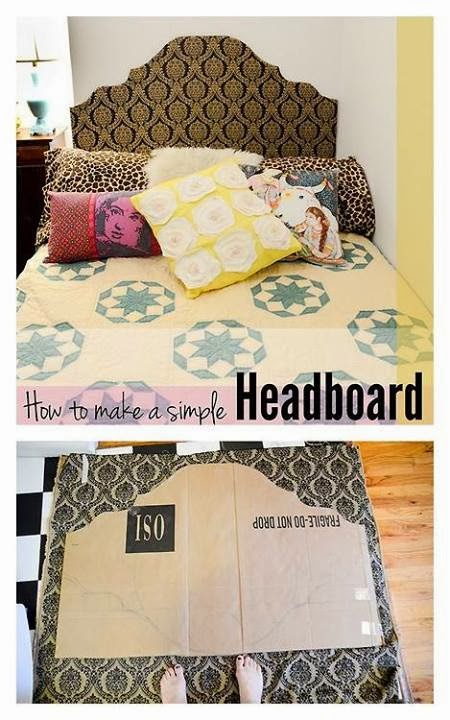 How to make a simple headboard do it yourself for Easy do it yourself headboard ideas