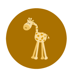 jirafa infantil para cupcakes