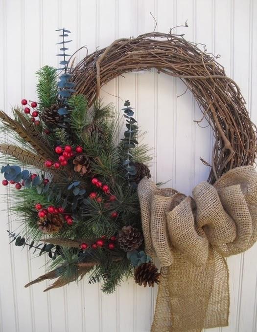 Рождественские венки фото своими руками