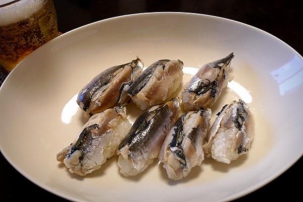 昨日のおっさんひとり飯 イワシの姿寿司
