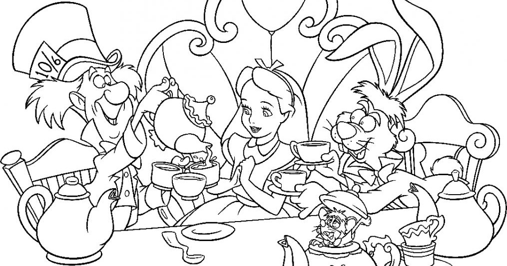 Alice In Wonderland Coloring Pages | Free Coloring Pages