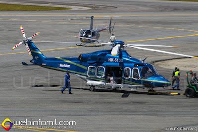 Helicóptero AgustaWestland AW139 de la empresa Helistar.