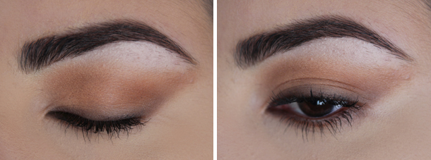 fall makeup look coastal scents oatmeal tan oktoberfest eyeshadow