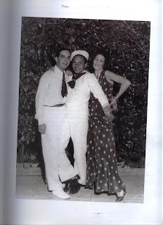 Fulco in sailor's uniform, with Contessa di Assam and Cav. Michele de Stefani.