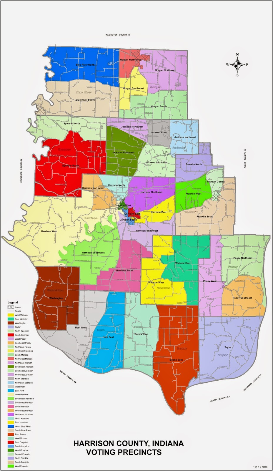 harrison county precinct map