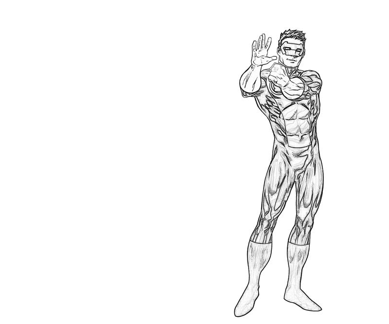 kyle rayner coloring pages