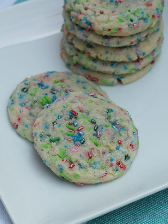 Sprinkle Filled Sugar Cookies