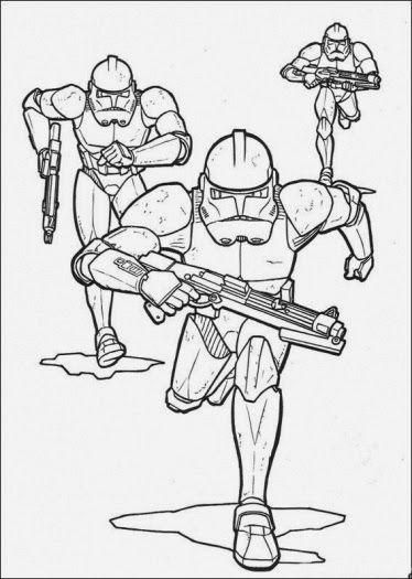 printable clone trooper coloring pages - photo#20