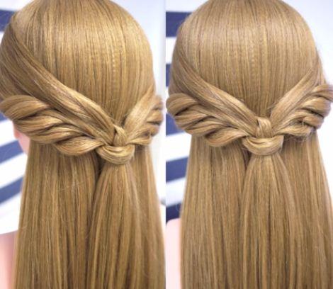 Peinados con media cola f cil y bonito diy belleza y peinados - Como hacer peinados faciles y bonitos ...
