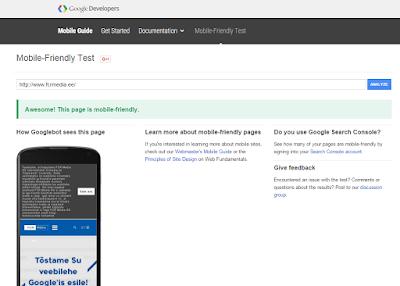 mobiilisõbralikkuse test