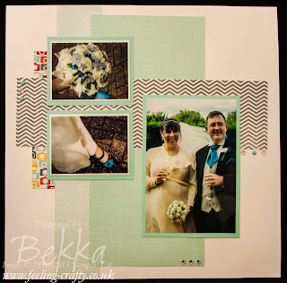 Here comes the Bride Scrapbook Page featuring the I am me Papers from Stampin' Up!