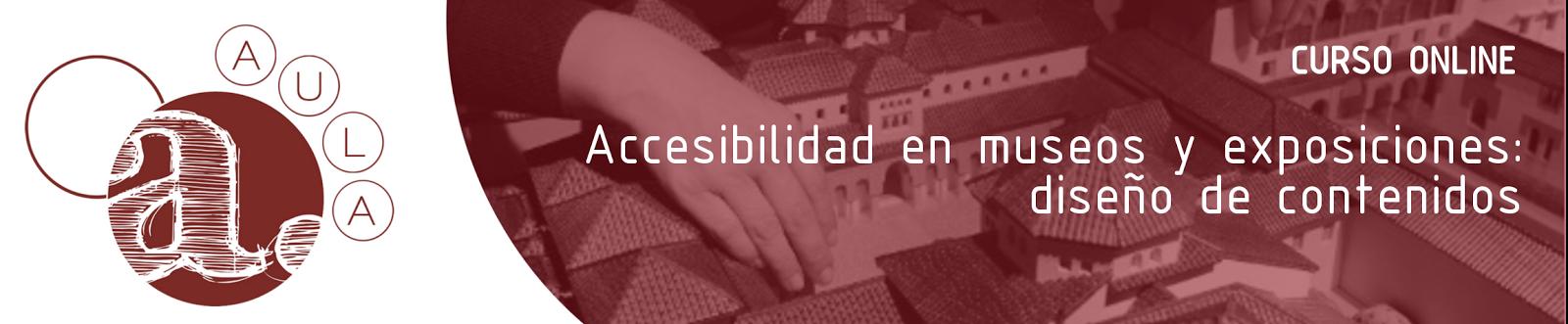 Logotipo de la empresa Agmagre. Texto incluido: Curso online. Accesibilidad en museos y exposiciones: diseño de contenidos.