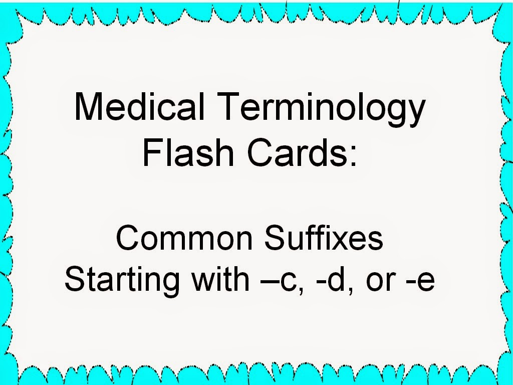 Tactueux image pertaining to printable medical terminology flash cards
