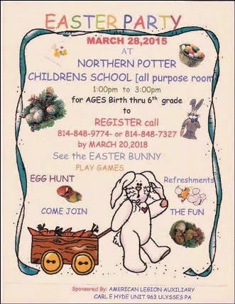 3-28 Easter Party Northern Potter Childrens School