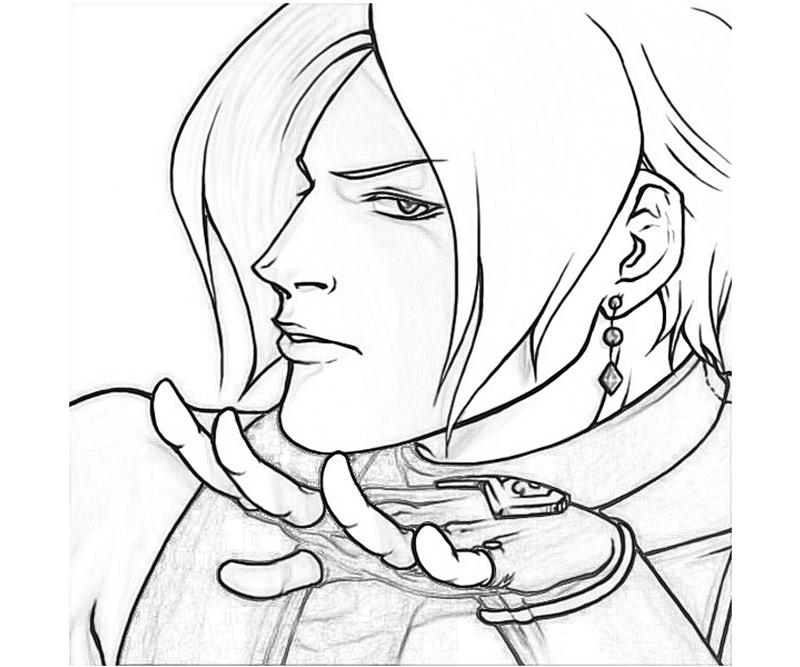 King of Fighters Adelheid Bernstein Portrait Coloring Pages title=