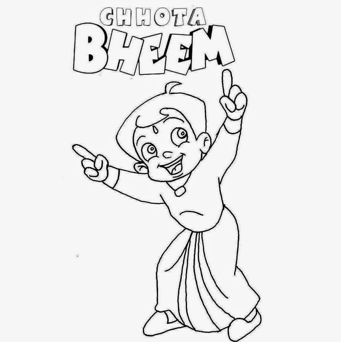 Chota Bheem For Kid Coloring Drawing Free wallpaper