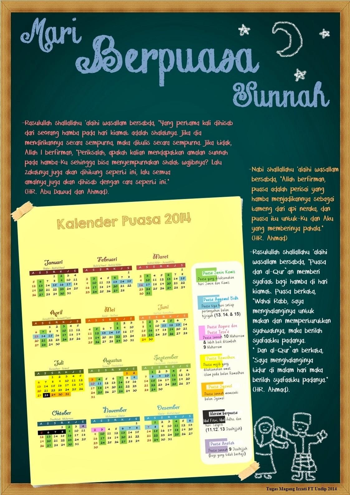 Izzati FT UNDIP: Kalender Puasa Sunnah 2014
