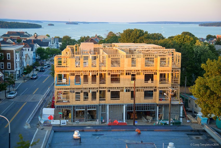 118 on Munjoy Hill condo Congress Street Construction September 2014 Photo by Corey Templeton
