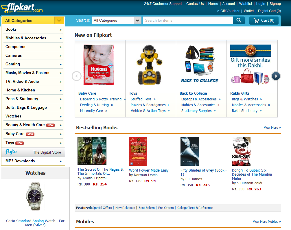 Top online shopping websites in india for Online shopping websites list