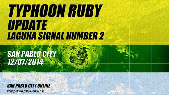 Typhoon Ruby Update, Laguna Signal Number, San Pablo City, 12/07/2014