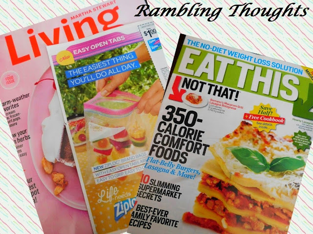 Rambling Thoughts, Free, Mail, Coupons, Products, Samples, Magazines, Martha Stewart Living, Eat This