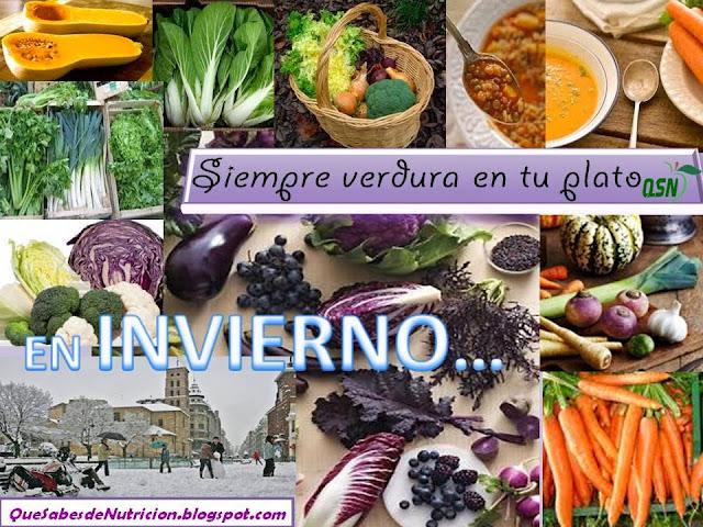 Consumir alimentos de temporada: invierno