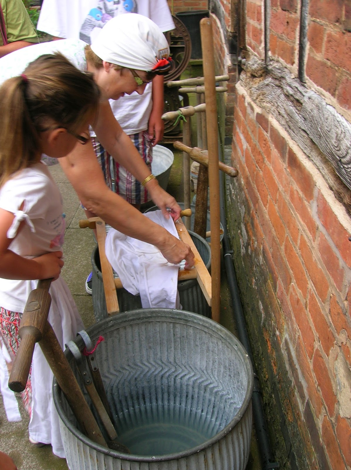 Washing the old fashioned way at Hinckley Museum