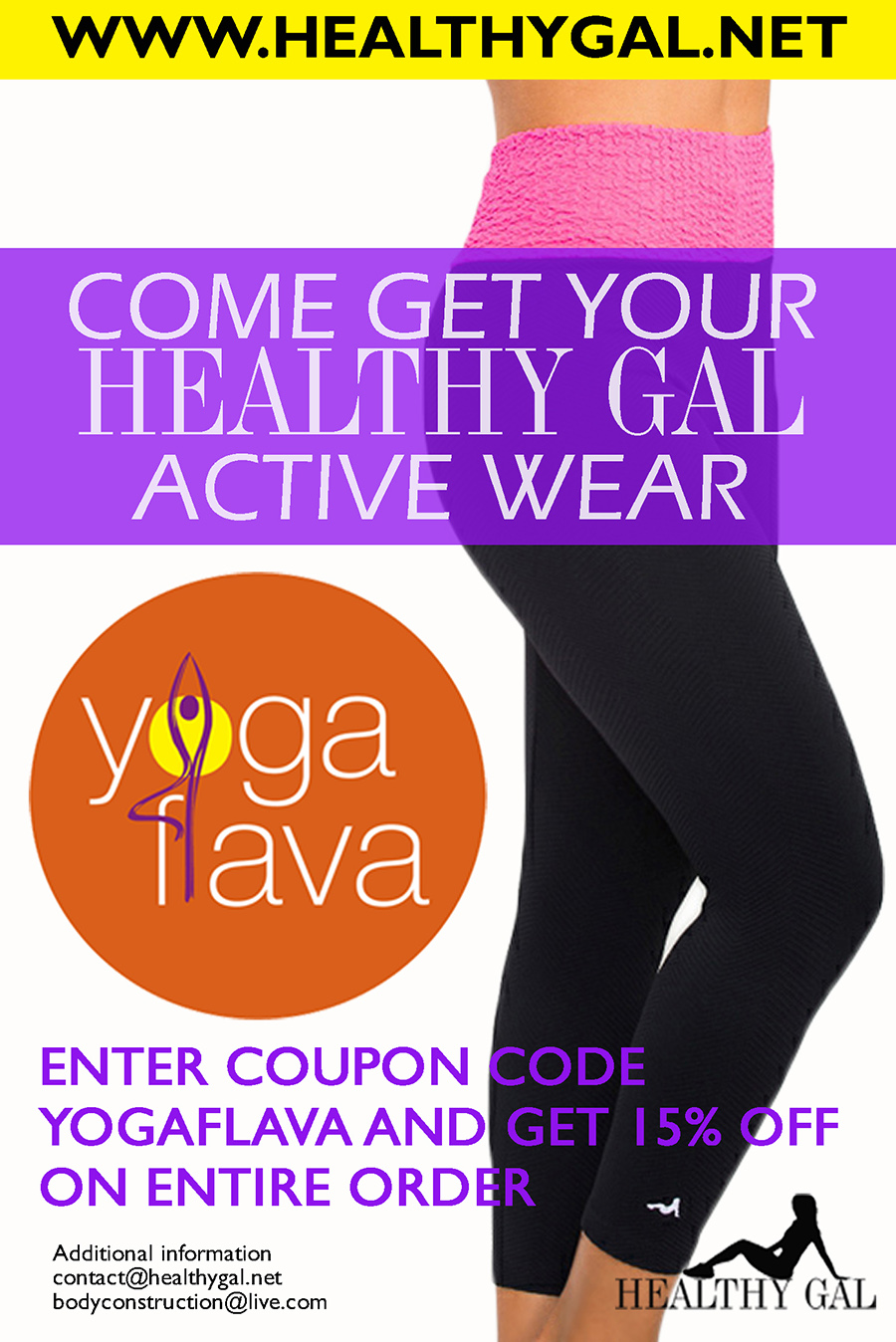 15% Discout off your Healthy Gal gear